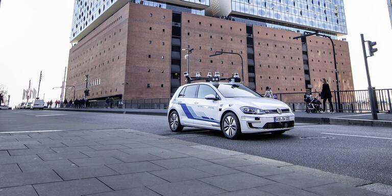 """VW schickt """"Robo-Golf"""" durch die Stadt"""