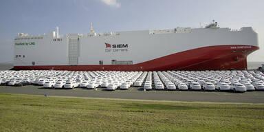 VW verschifft Autos erstmals mit Flüssigerdgas