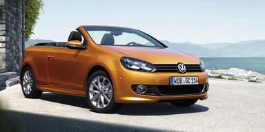 VW frischt das Golf Cabrio auf