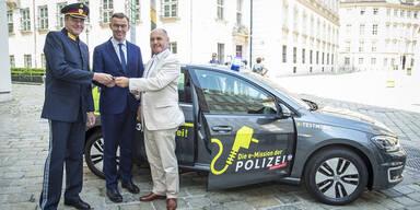 Heimische Polizei fährt e-Golf