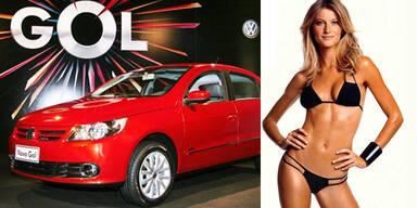 VW startet den Gol in Brasilien mit Gisele und Sly