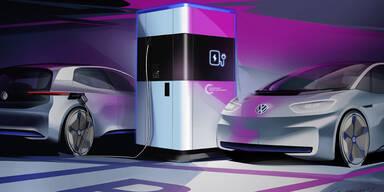 Geniale Ladestation von VW für E-Autos