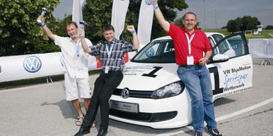 Die Gewinner: Gerald Gaugusch, Walter Mähr und Gerhard Kraus (v. l. n. r.)
