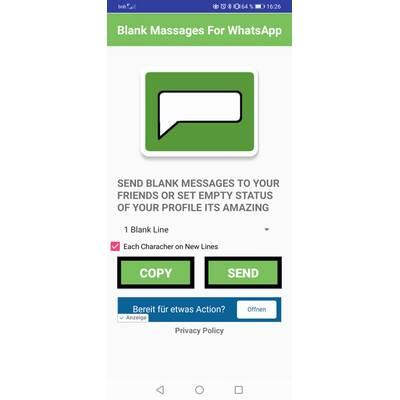 Whatsapp leere ios nachricht WhatsApp kopierte
