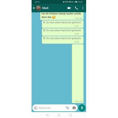 Leere nachricht tricks whatsapp Gelöschte WhatsApp