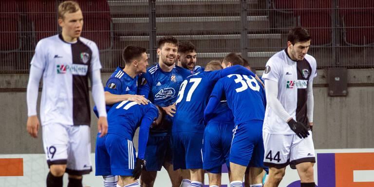 0:3 - WAC chancenlos gegen Dinamo Zagreb