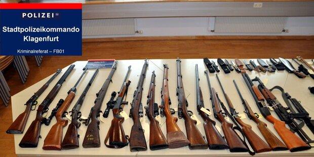 Waffenarsenal bei 70-Jährigem gefunden