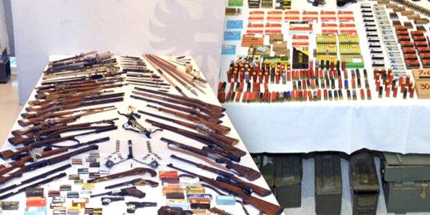 Hunderte Waffen im Keller