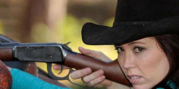 Waffennärrin von Sohn angeschossen