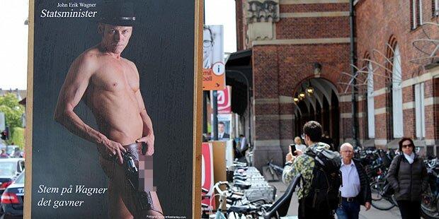Wahlen: Politiker wirbt mit Penis-Plakat