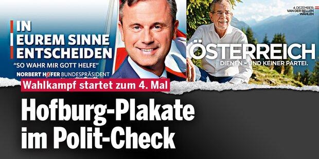 Hofburg-Plakate im Polit-Check