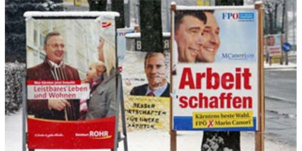 Kärntner Parteien plakatieren hemmungslos