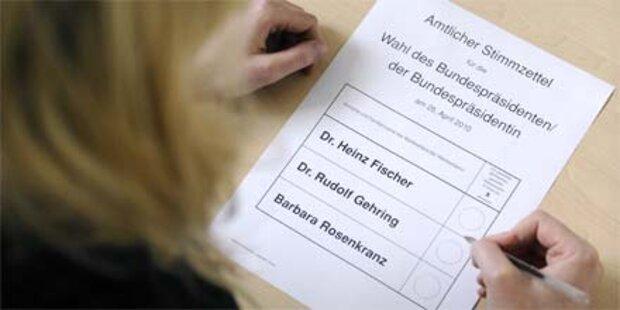 BP-Wahl: 53,6 Prozent gaben Stimme ab