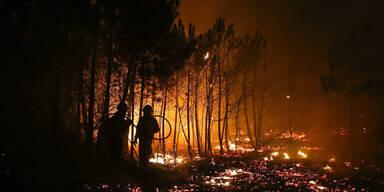 Gewaltige Waldbrände in Südeuropa