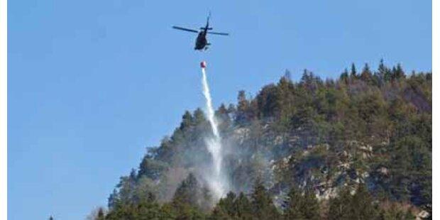 Waldbrand bei Innsbruck neu ausgebrochen