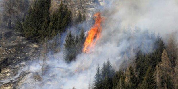 Waldbrand im Lungau nicht zu bändigen