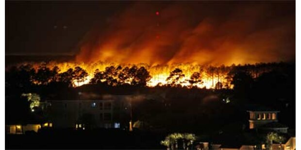 Riesiger Waldbrand in South Carolina