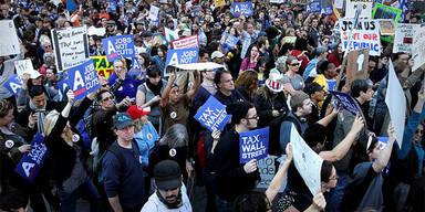 Demo gegen die Wall Street / New York