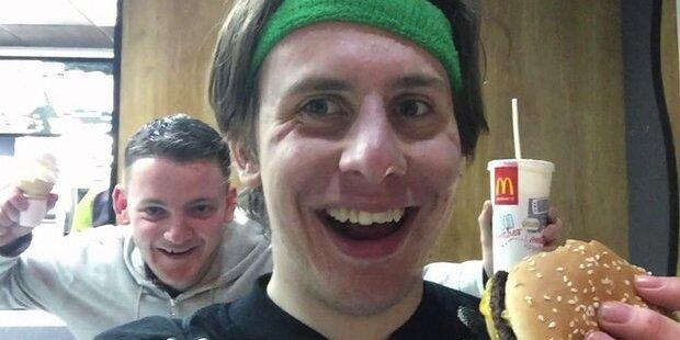 Mann isst 46 McMenüs an einem Tag