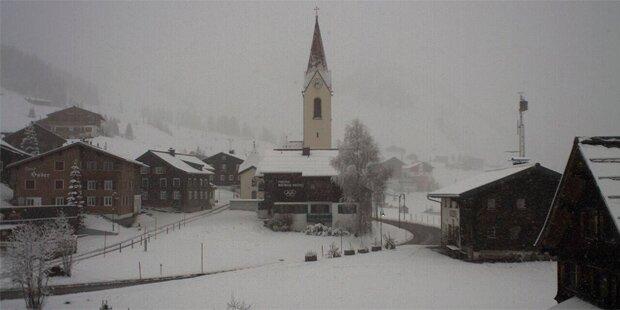 Fotos vom Wintereinbruch im Bergland