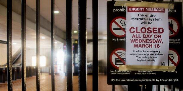 U-Bahn-Netz in Washington lahmgelegt