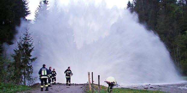 Druckleitung von Tiroler Kraftwerk geplatzt