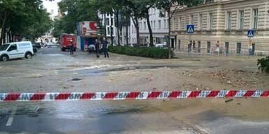 Wien: Wasserrohrbruch legte Verkehr lahm