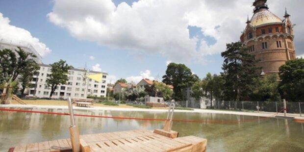 Wasserspielplätze sorgen für Abkühlung