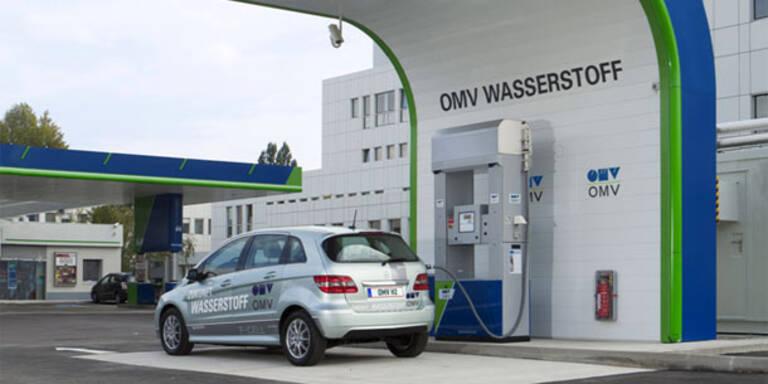 OMV eröffnete Wasserstoff-Tankstelle
