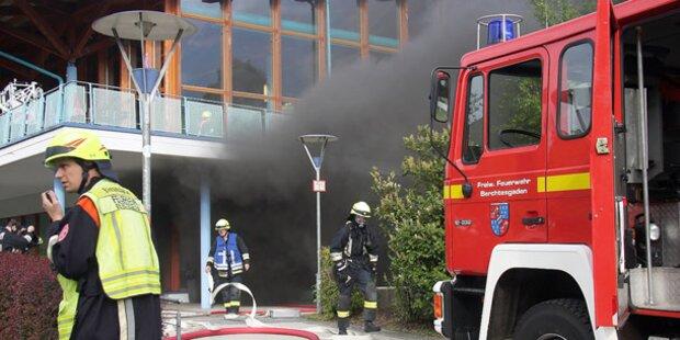 Feuer: Watzmann-Therme evakuiert