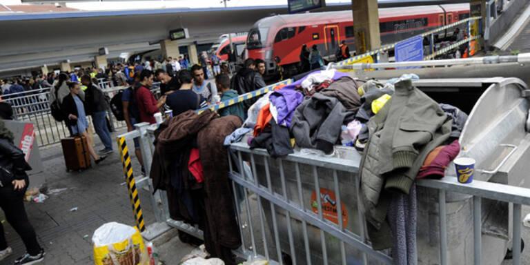 Über 5.000 Flüchtlinge in Wien angekommen