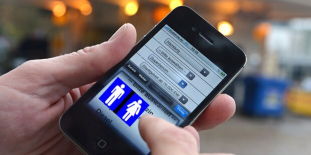Smartphone-App findet saubere Toiletten
