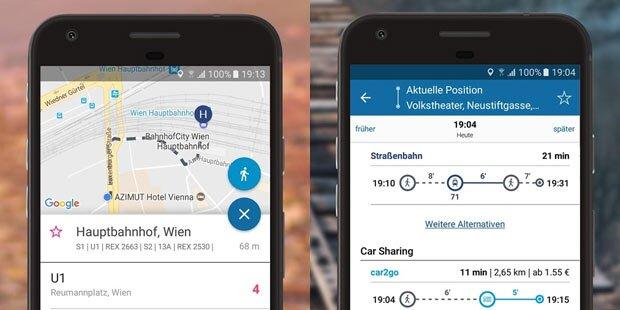 wegfinder-App jetzt mit ÖBB-Ticketkauf
