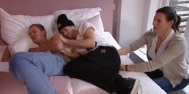 VIDEO: Zwei Männer testen Wehen