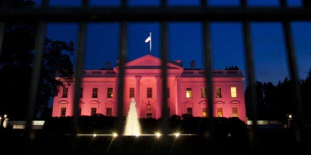 Das Weiße Haus ist jetzt rosa