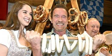 weißwurstparty mit Arnold Schwarzenegger