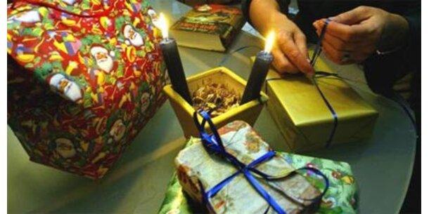 Bei Weihnachtsgeschenken wird gespart
