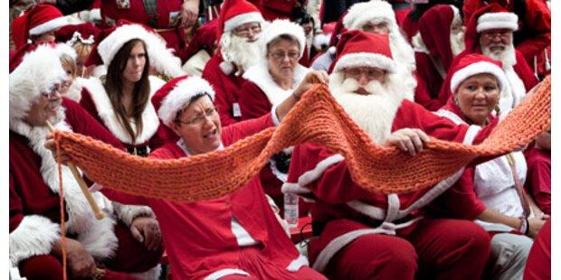 Weihnachtsmänner-Aufmarsch in Kopenhagen