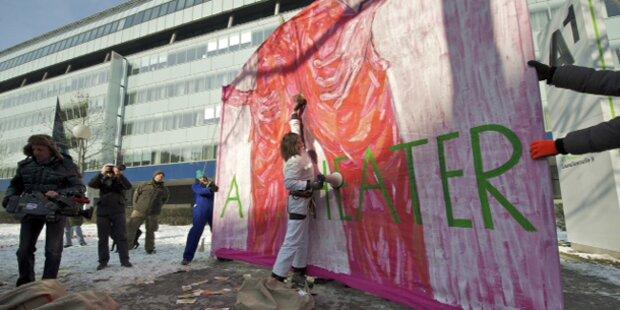 Kunstaktion gegen korruptes Österreich