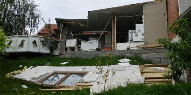 Haus explodiert beim Schnapsbrennen