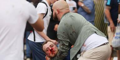 Fan-Chaos! Blutiger Ansturm auf Wembley