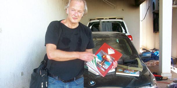 Karl Wendl in Gaddafis Palast in Tripolis