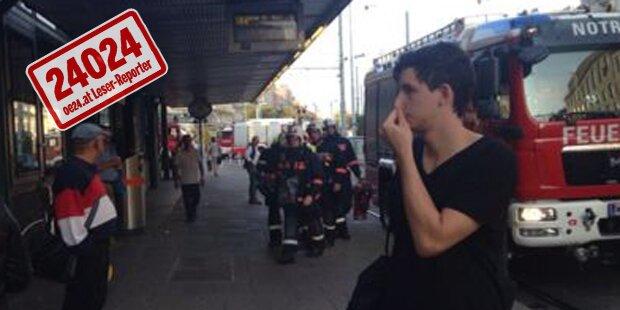 Rauch: Feuerwehr sperrt Westbahnhof