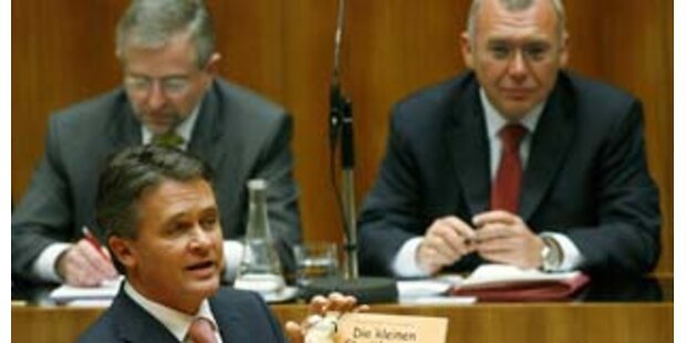 Westenthaler hält Rundumschlag im Nationalrat