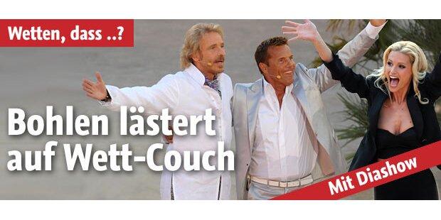 Frecher Bohlen lästert auf Wett-Couch