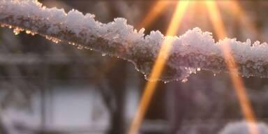 Frostig und kalt in Österreich