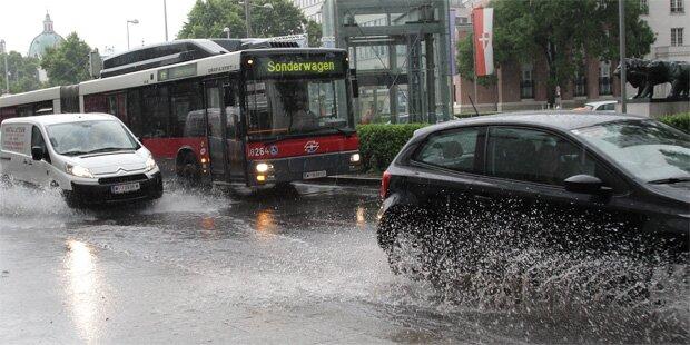 Starkregen-Warnung für weite Teile Österreichs