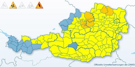 Wetterwarnung Österreich