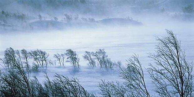 Gefühlte Temperatur fällt auf minus 34 Grad