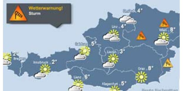 Sturmwarnung für ganz Österreich